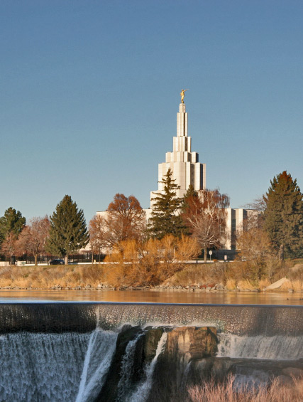 Mormon Tabernacle overlooking Idaho Falls